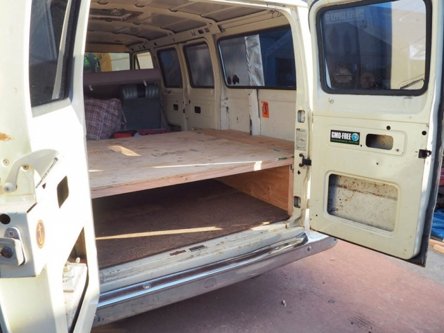 bett done 1024x768 640x480 - Ausbau Van /  Van Conversion